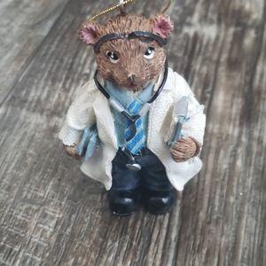 Hallmark Doctor Bear vintage Christmas Ornament